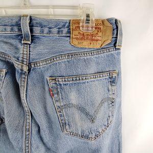 Levi's 501 Men Blue Jeans 31x30 Light Wash